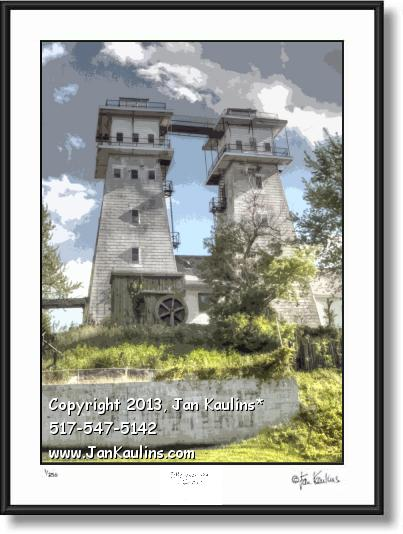 Click on this image to see an enlarged view of IRISH HILLS TOWERS MI photo picture art prints.