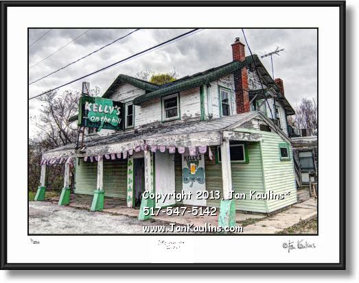 Click on this image to see an enlarged view of IRISH HILLS KELLY'S ON THE HILL photo art print.