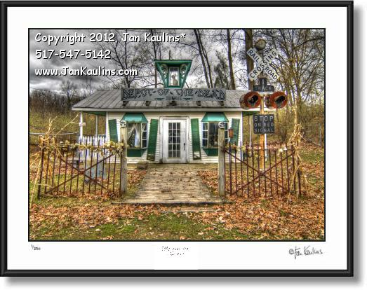 Click on this image to see an enlarged view of IRISH HILLS MI Haunted Depot photo art print.