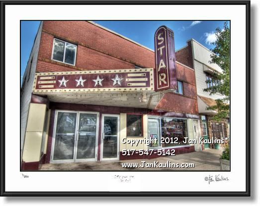 Click on this image to see an enlarged view of STAR THEATER Brooklyn MI photo picture art print.