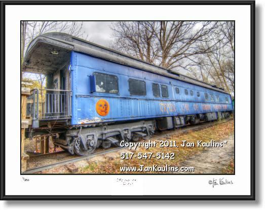 Click on this image to see an enlarged view of IRISH HILLS MI Haunted Train photo picture print.