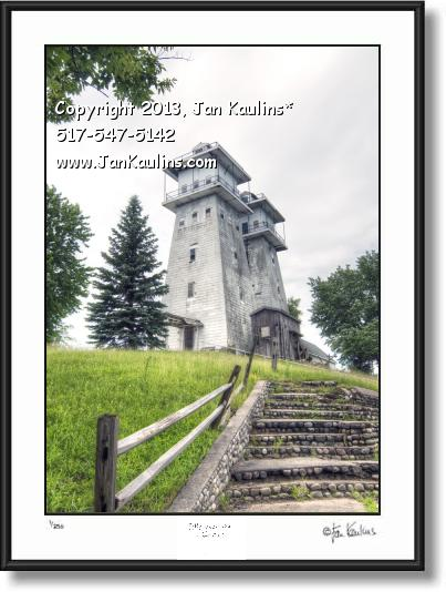 Click on this image to see an enlarged view of IRISH HILLS MI TWIN TOWERS photo art print.