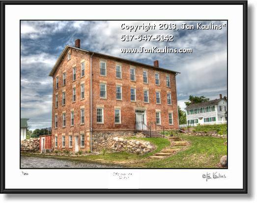 Click on this image to see an enlarged view of BRICK WALKER TAVERN Irish Hills MI photo print.