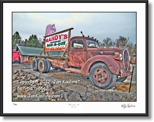 Click on this image to see an enlarged view of IRISH HILLS MI Randy's BBQ photo art print.