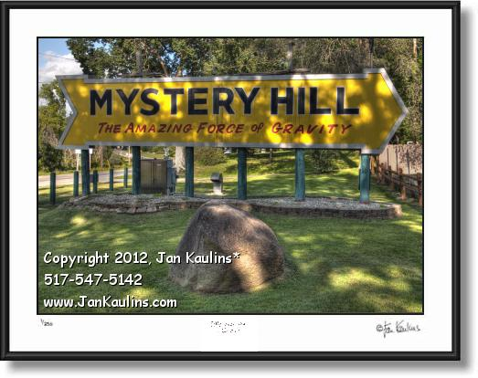Click on this image to see an enlarged view of MYSTERY HILL Irish Hills Mystery Hill photo print.
