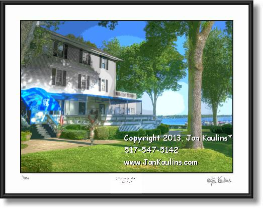 Click on this image to see an enlarged view of DEVILS LAKE YACHT CLUB art photo print photo.