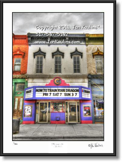 Click on this image to see an enlarged view of CLINTON THEATER MI photo picture art print.
