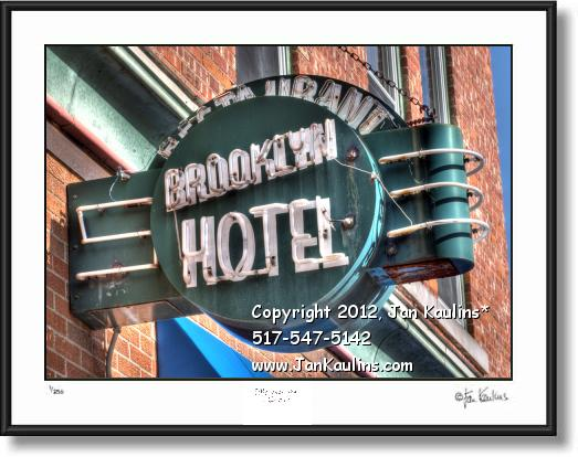 Click on this image to see an enlarged view of BROOKLYN MI Old Hotel photo picture art print.