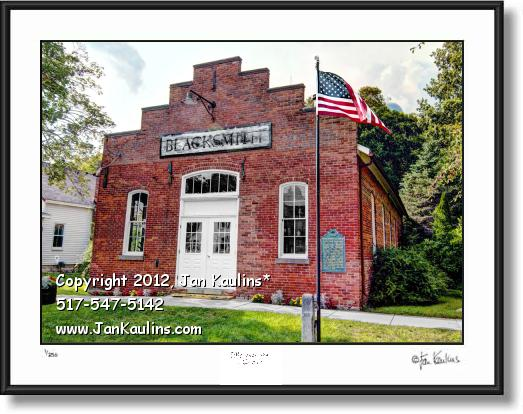 MANCHESTER MI BLACKSMITH photo picture print