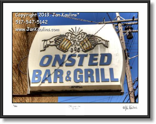 Click on this image to see an enlarged view of ONSTED MI BAR AND GRILL photo picture art print.