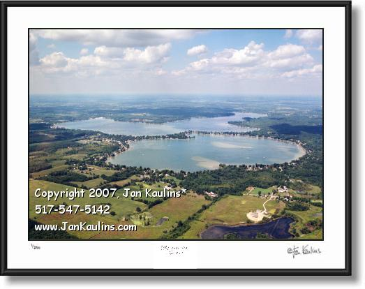 Click on this image to see an enlarged view of DEVILS LAKE ROUND LAKE Irish Hillls photo print.