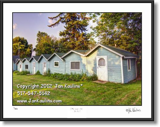 Click on this image to see an enlarged view of IRISH HILLS Old Green Cabins photo print.
